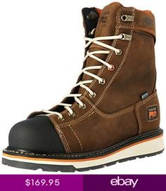 7ff74223 Timberland PRO TB0A16T4214 Gridworks WP BROWN Boots. Timberland BootsTimberlands  ShoesBrown BootsLeather MenMen HikingHiking ...