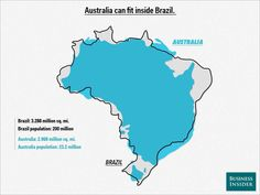 Australia in Brazil Brazil is 8.5 km2 and has 200 million people, Australia is 7.6 km2 and has 23.2 million, and we are worried about a few extra thousand? #DontStopTheBoats