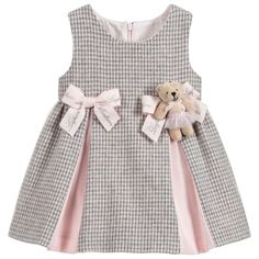 Girls Grey & Pink Wool Dress for Girl by Lapin House. Discover more beautiful de Girls Grey & Pink Wool Dress for Girl by Lapin House. Discover more beautiful de Girls Grey & Pink Wool Dress for Girl by Lapin House. Discover more beautiful de. Designer Dresses For Kids, Little Girl Dresses, Girls Dresses, Dress Girl, Designer Kids, Pink Dresses, Baby Frocks Designs, Baby Dress Patterns, Sewing Patterns