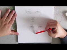 HOW TO : tutorial how to draw whimsical eyes and face inspired by Jane Davenport - YouTube
