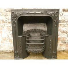 late Georgian, early Victorian register grate fireplace insert made from cast iron