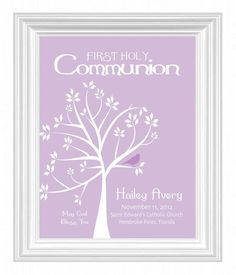 Personalized Communion Gift First Holy by KreationsbyMarilyn, $15.00