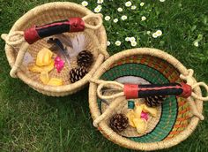 Perfect for Treasure Hunts - mini Bolga baskets are easy to carry all your trophies