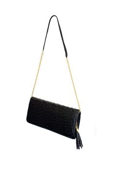 Veneza clutch in black - now with chain detail on the detachable strap. www.pedicollections.com