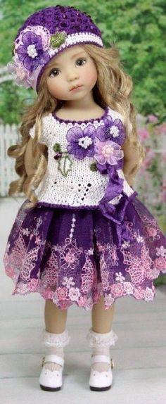 Ideas For Crochet Doll Mini American Girls Knitted Dolls, Crochet Dolls, Crochet Clothes, Pretty Dolls, Beautiful Dolls, Girl Dolls, Baby Dolls, Reborn Toddler Girl, Manequin