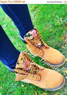 FALL SALE Custom Floral Gold Timberland Boots by KickDynasty https://www.etsy.com/listing/251398868/fall-sale-custom-floral-gold-timberland?ref=shop_home_active_1