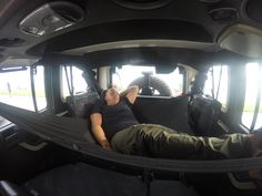 Jeep Wrangler Hammock by JKloud. Hammock, Sunshade, and Cargo Cover Two Door Jeep Wrangler, Jeep Wrangler Camping, Jeep Camping, Jeep Wrangler Sport, Jeep Wrangler Interior, Jeep Gear, Jeep Jl, Jeep Wrangler Accessories, Jeep Accessories