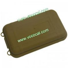 Sealed Shockproof Waterproof Plastic Tool Fishing Tackle Box Small Boxes W/ Sponges 14 x 8 x 4CM Brown