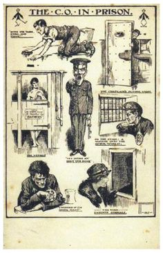 ww1 card The CO in prison