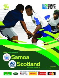 Samoa vs Escòcia #RWC2015 #SAM vs #SCO #LeManu vs #AsOne
