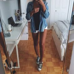 Casual Summer Look – Summer Must Haves Collection. - Street Fashion, Casual Style, Latest Fashion Trends - Street Style and Casual Fashion Trends Estilo Fashion, Look Fashion, Teen Fashion, Fashion Outfits, Womens Fashion, Fashion Trends, Mode Outfits, Short Outfits, Casual Outfits