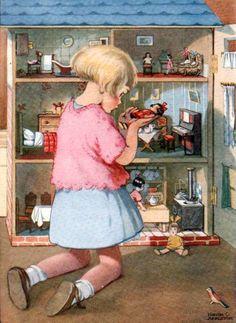 """The Dollies' House"" - Honor C. Appleton, (English, 1879 – 1951)"