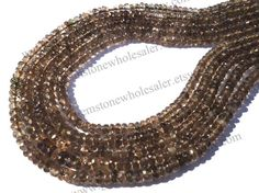 Andalusite Faceted Roundel Quality AAA / 36 by GemstoneWholesaler
