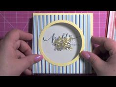 partway in see the cute one with star cutouts!▶ More Sequin Shaker Cards (with a mini tutorial) - YouTube