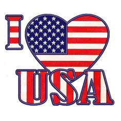 I love USA American Flag Patriotic heart Applique Machine - DIY and crafts Applique Patterns, Applique Designs, Machine Embroidery Designs, Patriotic Crafts, Patriotic Decorations, Patriotic Party, July Crafts, American Freedom, American Flag