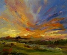 Sunset Art by Delilah, painting by artist Delilah Smith