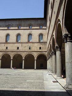 Castello Sforzesco in Milan, #Italy #castle #beautifulplaces
