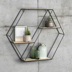 Give Your Rooms Some Spark With These Easy Vintage Industrial Furniture and Design Tips Do you love vintage industrial design and wish that you could turn your home-decorating visions into gorgeous reality? Rustic Wooden Shelves, Solid Wood Shelves, Decorative Shelves, Industrial Shelves, Wall Shelf Unit, Wall Shelves, Diy Hanging Shelves, Floating Shelves, Mounted Shelves
