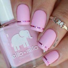 23 Summer pink polish Nail Designs for Girls