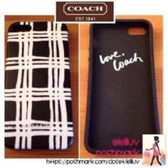 COACH printed plaid iPhone 5/5s case NWT, see pictures. 🔶This is a rubber case, somewhat flexible and not a hard shell. 🔶Box is a taped at the top, which was already a little ripped when purchased, but case inside is brand new and only opened for pictures. 🔶First picture shows front and back.🔶Fits iPhone 5/5s only.   🚫No trades 🚭Smoke-free 🐶Pet-friendly 🌺🌹Thanks for shopping @leliluv! Coach Accessories Phone Cases