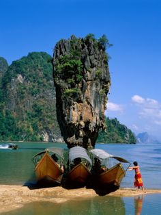 Phangnga Bay, James Bond Island, Phuket, Thailand.   No - there is not really a house built on top and it's defiantly not in Ireland.
