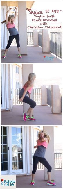 """Taylor Swift """"Shake It Off"""" – Dance Workout with Christina Chitwood from Fit Body Full Life (Post includes embedded videos for dance workout breakdown and dance workout plus tips) One Song Workouts, Dance Workout Videos, Workout Songs, Fun Workouts, Dance Exercise, Dance Workouts, Extreme Workouts, Extreme Fitness, Ayurveda Yoga"""