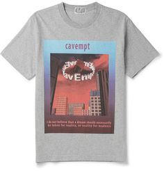 865bbeb612 CAV EMPT Printed Cotton-Jersey T-Shirt Printed Cotton, Menswear, Mens  Fashion