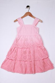 Billie Blush Girls Peach Broderie Anglaise Dress |ss13