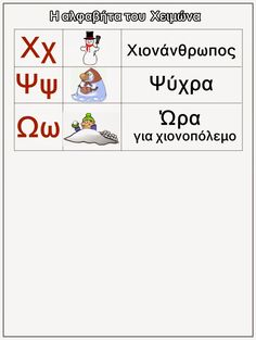 Winter Activities, Writing Activities, Learning Resources, Preschool Activities, Greek Language, Second Language, Learn Greek, Greek Alphabet, Pre Writing