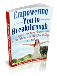 Empowering You to Breakthrough:  21 Days to Overcoming the Insecurities & Bad Habits that Have Been Holding You Back.  Eclass and book.