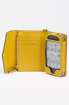 Michael By Michael Kors Iphone Wristlet in Yellow (marigold) - when i get that iPhone
