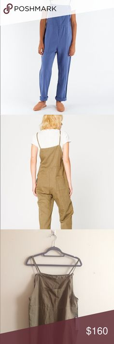 Brand New Lacausa Cézanne Overalls in Basil Brand new Lacausa Cézane Overalls in Basil. Rare and sold out everywhere online. Tag attached. First image shows overalls in French Blue for reference. Anthropologie Pants Jumpsuits & Rompers