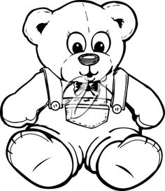 Teddy Bear Coloring Pages Free Printable Pagesbear