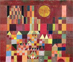 Historische Architektur mal ganz modern. Schloss und Sonne von Paul Klee