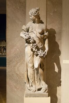 Spring, an Istrian limestone sculpture by Italian artist Angelo and Frencesco Marinali (late 17th-early 18th century) on view at the D'Amour Museum of Fine Arts.