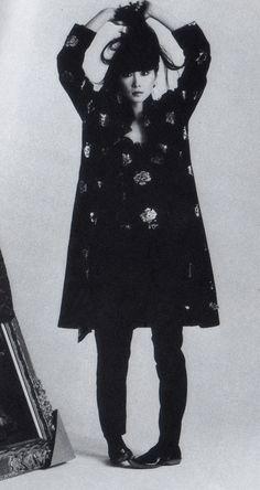 「山口小夜子」Yamaguchi Sayoko First Asian model... so beautiful