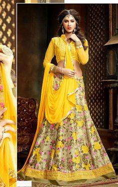 Admirable Yellow Color Lehenga Choli