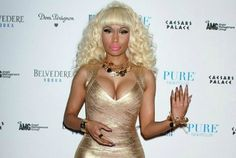 Nicki Minaj Goes For Gold at Caesars Palace Party