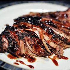 Crockpot Brown Sugar and Balsamic Glazed Pork Loin