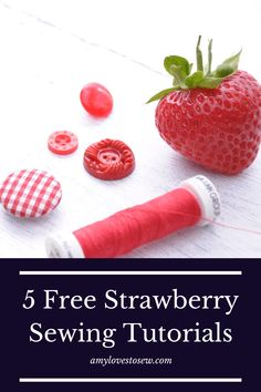 This little collection of strawberry sewing projects provides the ideal sewing ideas for beginners craft projects. From an easy fabric DIY coaster to a range of beginner sewing gifts, click through to be inspired by strawberries! #projecteasy #sewingbeginners #ilovesewing #learntosew
