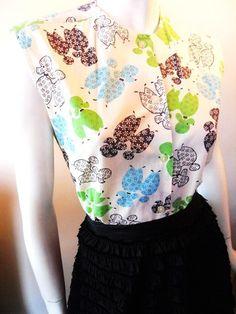 Poodle print 1960s blouse, Dorothea's Closet Vintage archives
