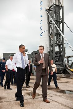 711467b70b April President Barack Obama touring SpaceX with CEO Elon Musk