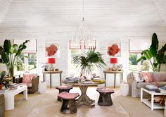 Essential Elements - Palm fronds, coral, and seashells: Alessandra Branca knows how to design the perfectly balanced beach house.