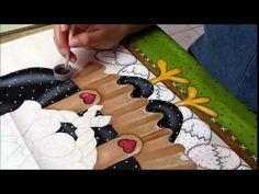 Pintura em tecido: Galinha d' Angola Country P- 5 - YouTube