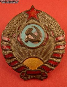 Collect Russia M 1937 Police Officer hat badge, 1937-39. Soviet Russian