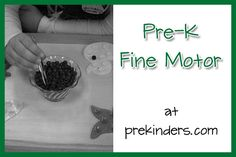 fine motor ideas from prekinders-if I ever get around to homeschooling