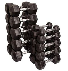 The Body Solid® Rubber Hex lbs Dumbbell Set features unbeatable durability. These solid cast iron dumbbells resist cracking and fading. The six-sided design prevents rolling and the rubber casing protects floors and equipment. Strength Training Equipment, No Equipment Workout, Fitness Equipment, Hex Dumbbell Set, Dumbbell Set With Rack, Elbow Pain, Barbell Weights, Weight Set, Lose Weight