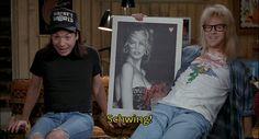 Wayne's World (1989) Wayne's World, Saturday Night Live, T Shirts For Women, Tops, Fashion, Moda, Fashion Styles, Fashion Illustrations, Snl