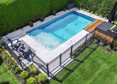 Our stamped and colored concrete is a perfect option for your pool deck surface. Stamped concrete pool decks are gaining … Pool Pavers, Backyard Pool Landscaping, Small Backyard Pools, Backyard Pool Designs, Small Pools, Pool Fence, Swimming Pools Backyard, Pool Decks, Outdoor Pool