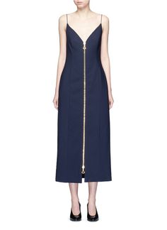 ELLERY 'Barton' Zip Front Camisole Dress. #ellery #cloth #dress